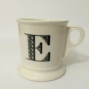 Anthropologie Monogram Initial Coffee Mug 'E'